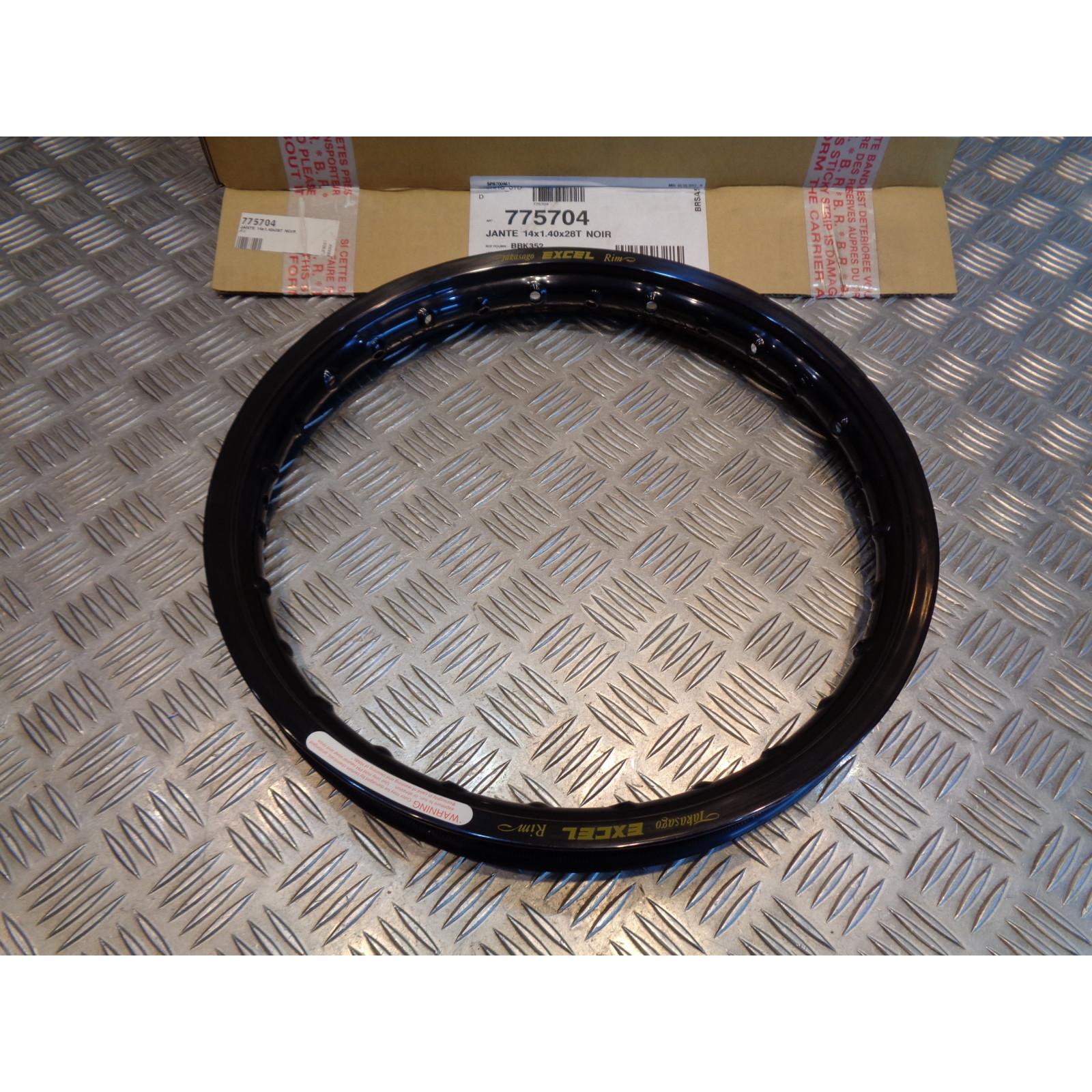 cerclage jante excel noir avant 14 x 1.40 x 28 T moto suzuki 65 rm kawasaki 65 kx BBK352 bihr 775704