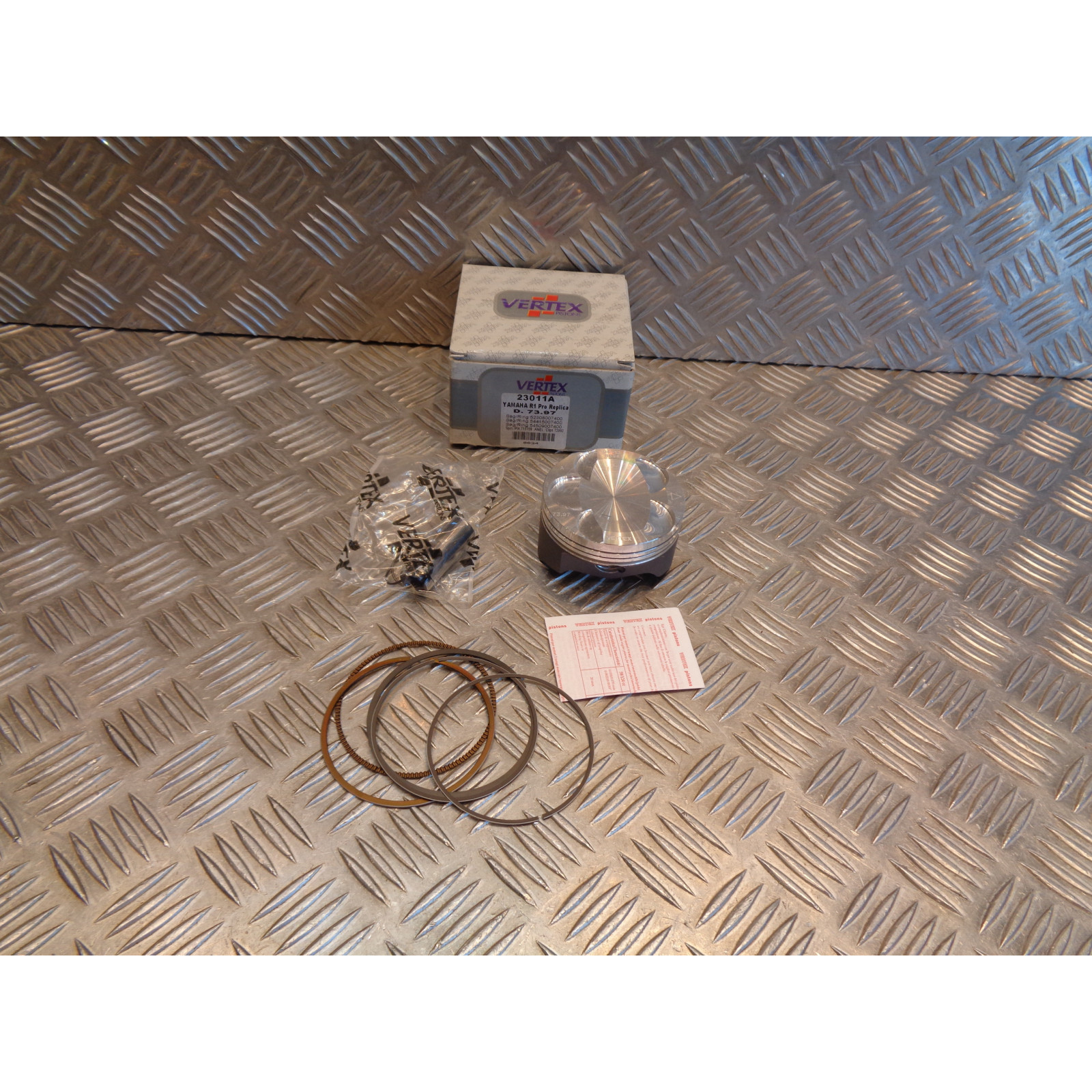piston vertex 73,97 mm moto yamaha 1000 yzf r1 pro replica 23011A bihr 9454DA fx140 2003 - 05
