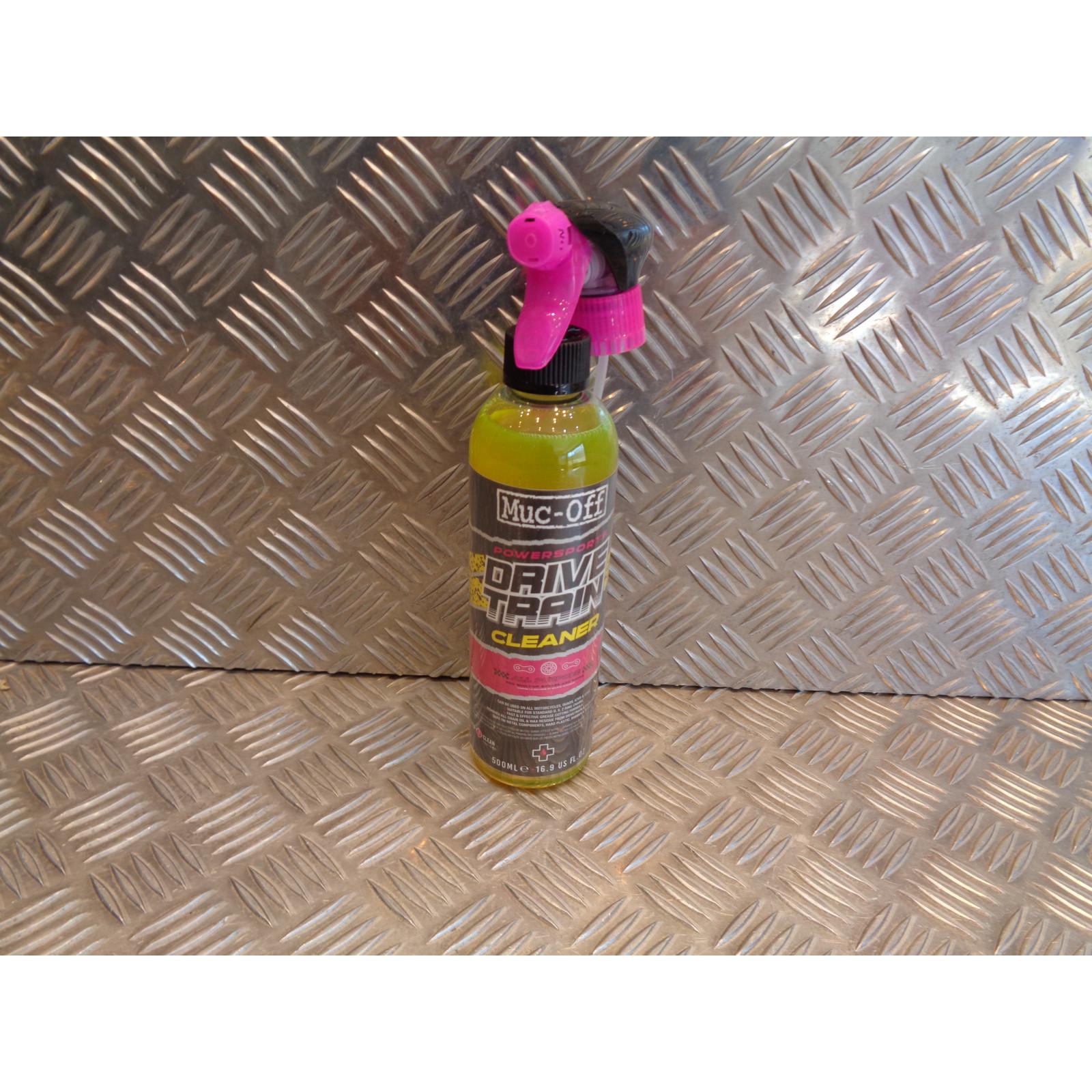spray cleaner drivetrain MUC-OFF 500ml nettoyant chaine biodegradable moto velo vtt quad ssv buggy