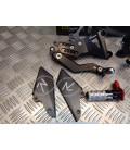 kit platine repose cale pied commande reculees reglables lightech moto triumph 675 daytona FTRTR001R bihr 36.555103 2006 - 2012