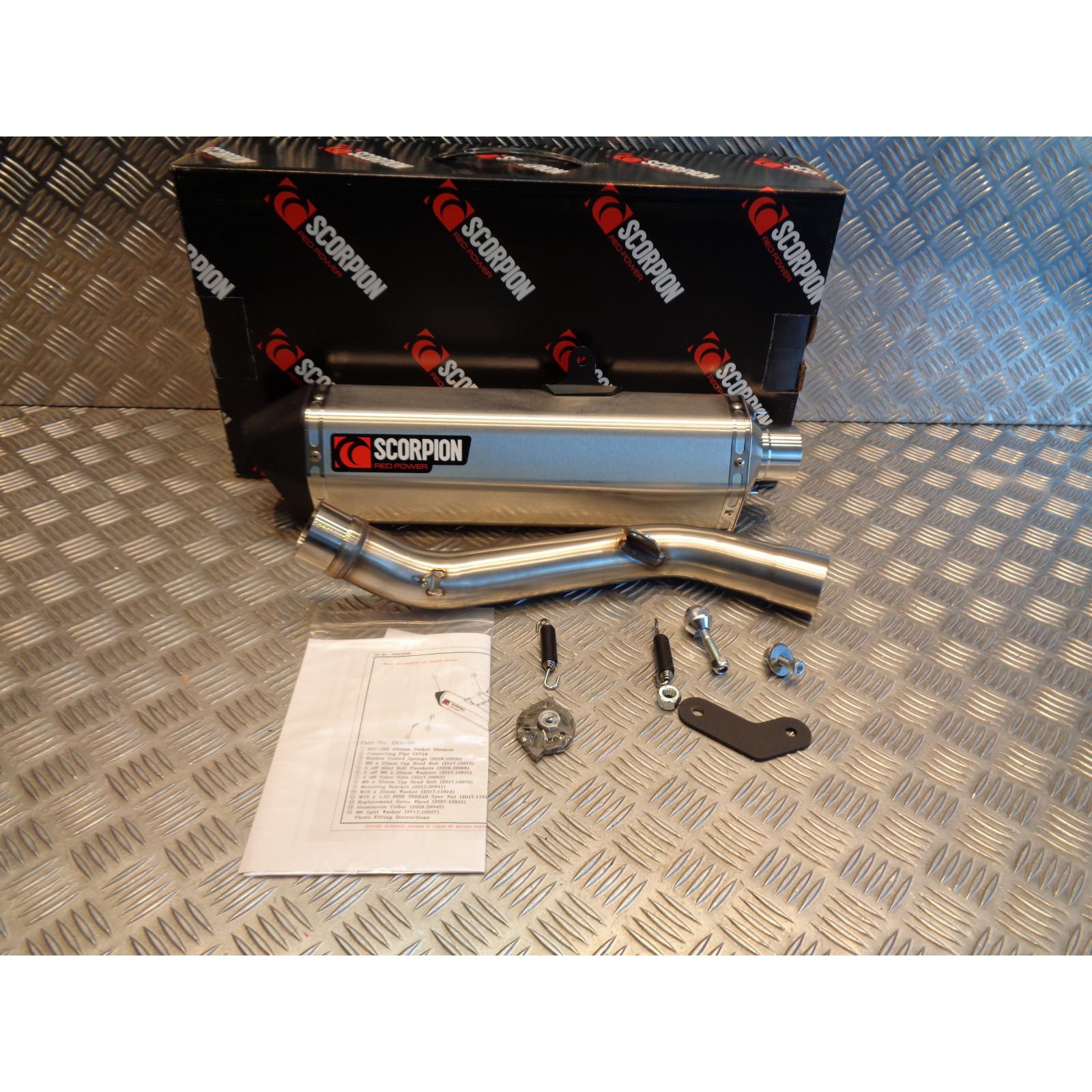 pot echappement silencieux scorpion serket inox brosse moto kawasaki z 800 RKA98SEO bihr 76209839