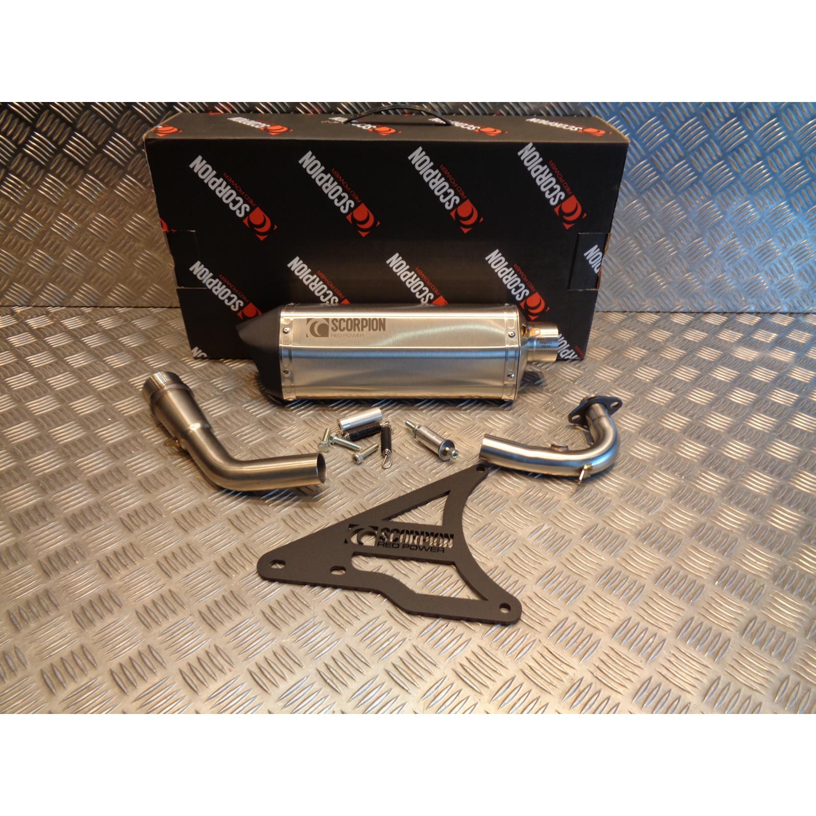 pot echappement ligne silencieux scorpion serket parallel inox scooter peugeot 125 django RPG105SEC bihr 76013828