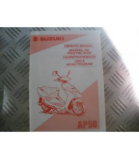 manuel du conducteur scooter suzuki 50 ap promotopieces