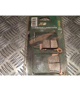plaquette de frein arriere carbone lorraine 1108 x2 moto ktm husqvarna husaberg