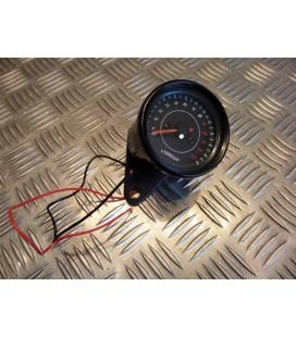 compteur noir compte tours mecanique universel adaptable scooter moto quad