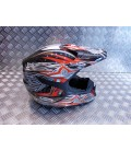 casque moto cross shiro mx-305 noir rouge taille xl 60 - 61