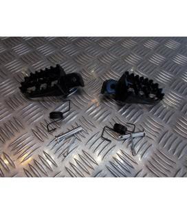 paire cale repose pied noir moto cross honda 50 70 80 100 crf xr dirt bike ...