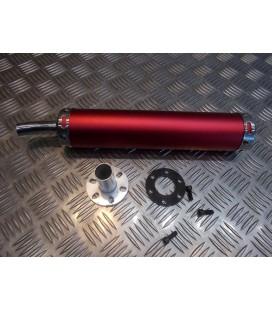 cartouche silencieux universel adaptable rouge pour pot echappement scooter moto mecaboite 50 125