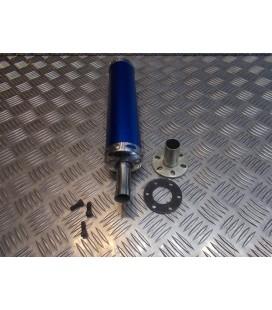 cartouche silencieux universel adaptable bleu pour pot echappement scooter moto mecaboite 50 125