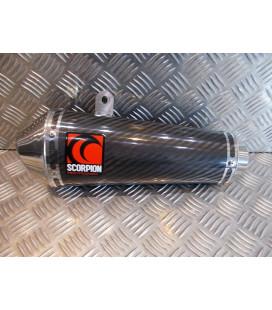 silencieux scorpion cone oval carbone pour moto 18.119108 ESC127CEO pot echappement