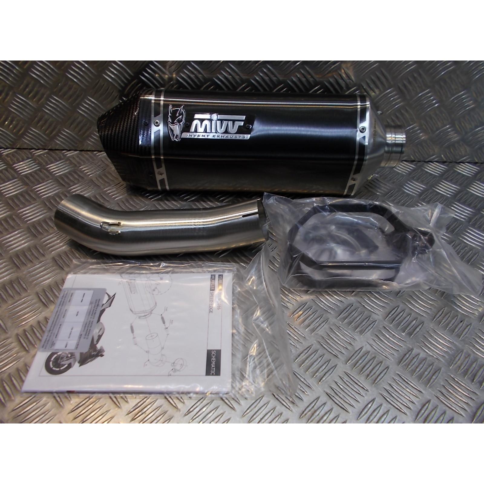 silencieux mivv speed edge inox noir carbone moto bmw s 1000 rr 76021530 B.029.LRB pot echappement s10000rr