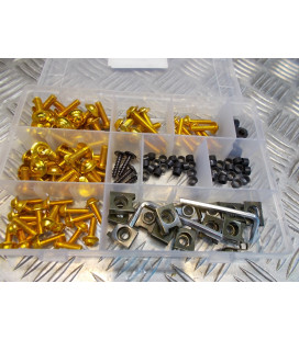 137 vis boulon ecrou clips jaune cache carenage carrosserie moto scooter fixation universel plastique poly