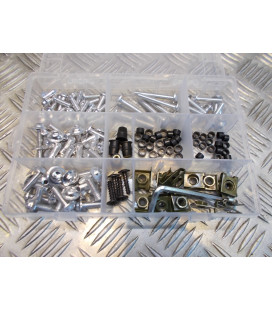 137 vis boulon ecrou clips argent cache carenage carrosserie moto scooter fixation universel plastique poly