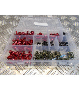 137 vis boulon ecrou clips rouge cache carenage carrosserie moto scooter fixation universel plastique poly