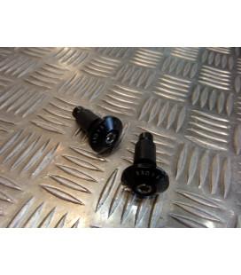 jeu embout noir plat de guidon diametre 22 mm pour moto scooter quad universel adaptable