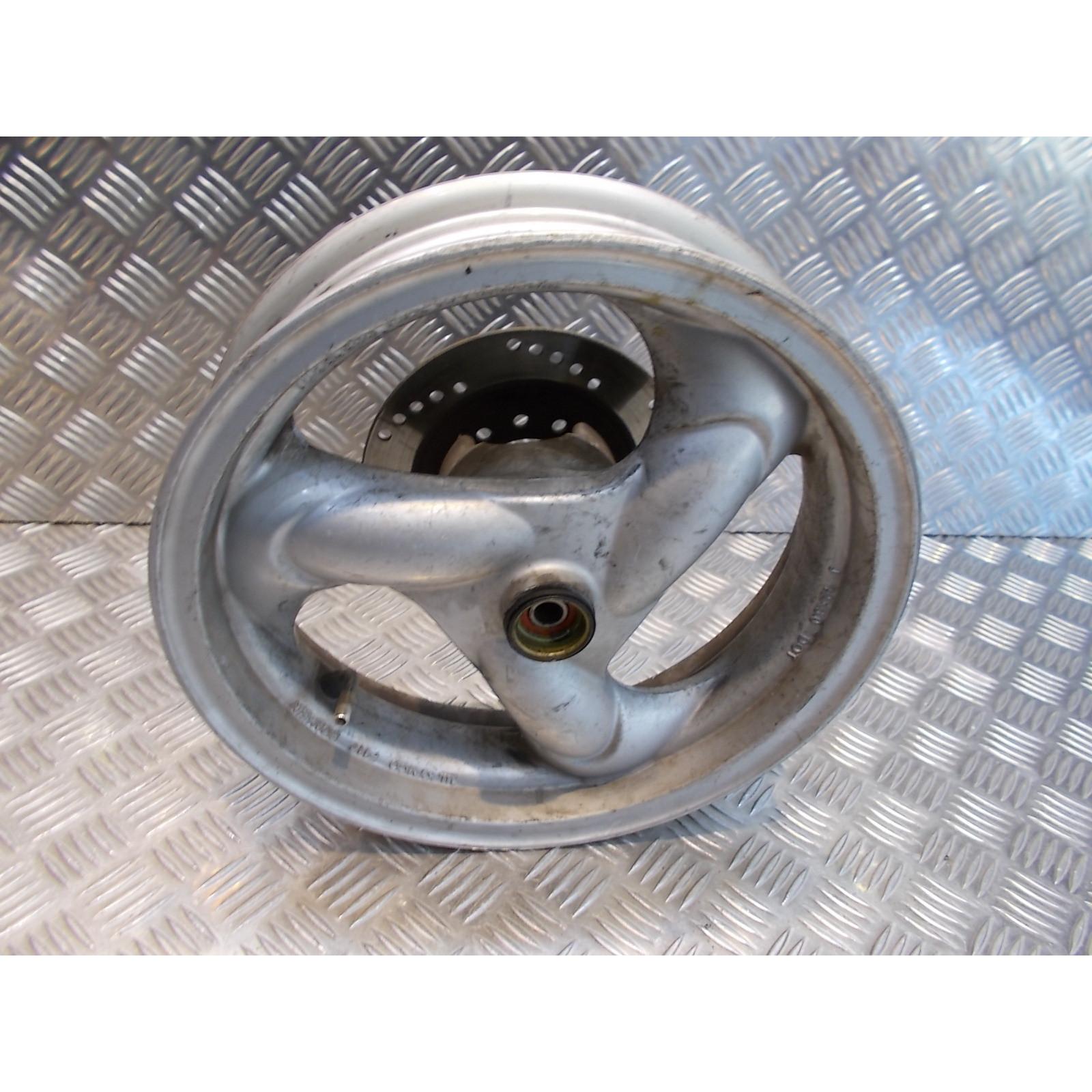 jante roue avant + disque frein scooter kymco 50 agility 4 temps 12 pouces