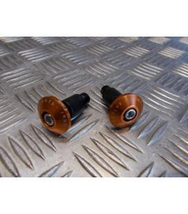 jeu embout orange plat guidon diametre 22 mm moto scooter universel adaptable quad