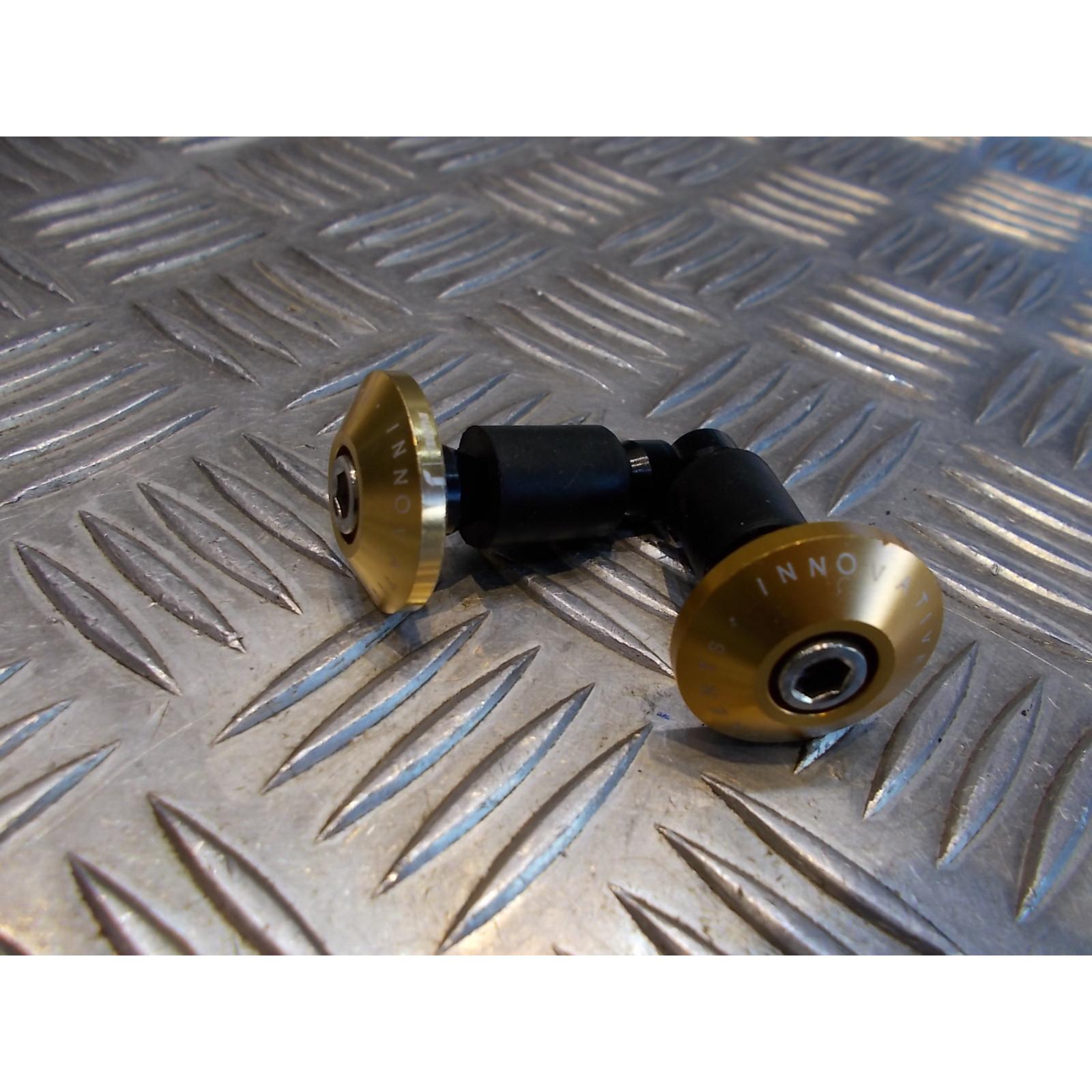 jeu embout or plat guidon diametre 22 mm moto scooter universel adaptable quad