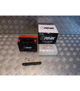 batterie YTX12A-BS 12v - 10Ah nhk (Lg150xL87xH104) livree avec acide moto scooter quad