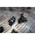 boite de 1060 vis rondelle ecrou btr 6 pans tete fraisee m2 m3 m4 m5 acier au carbone visserie moto scooter quad ...