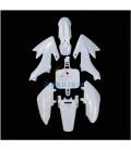 lot 7 pieces plastique blanc cache carrosserie moto dirt bike type crf 50 70 90 110 12