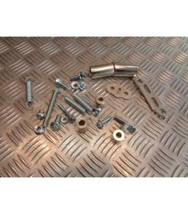kit montage fixation pot echappement yasuni r1 moto mecaboite am6 aprilia rs peugeot xr6 yamaha tzr rieju rs2 mbk x power BSP903