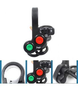 commodo universel phare clignotant klaxon moto scooter quad bouton adaptable commutateur