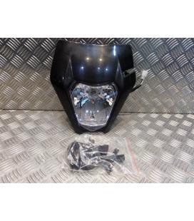 plaque phare tete fourche noir ktm universel adaptable moto trail enduro mecaboite ...