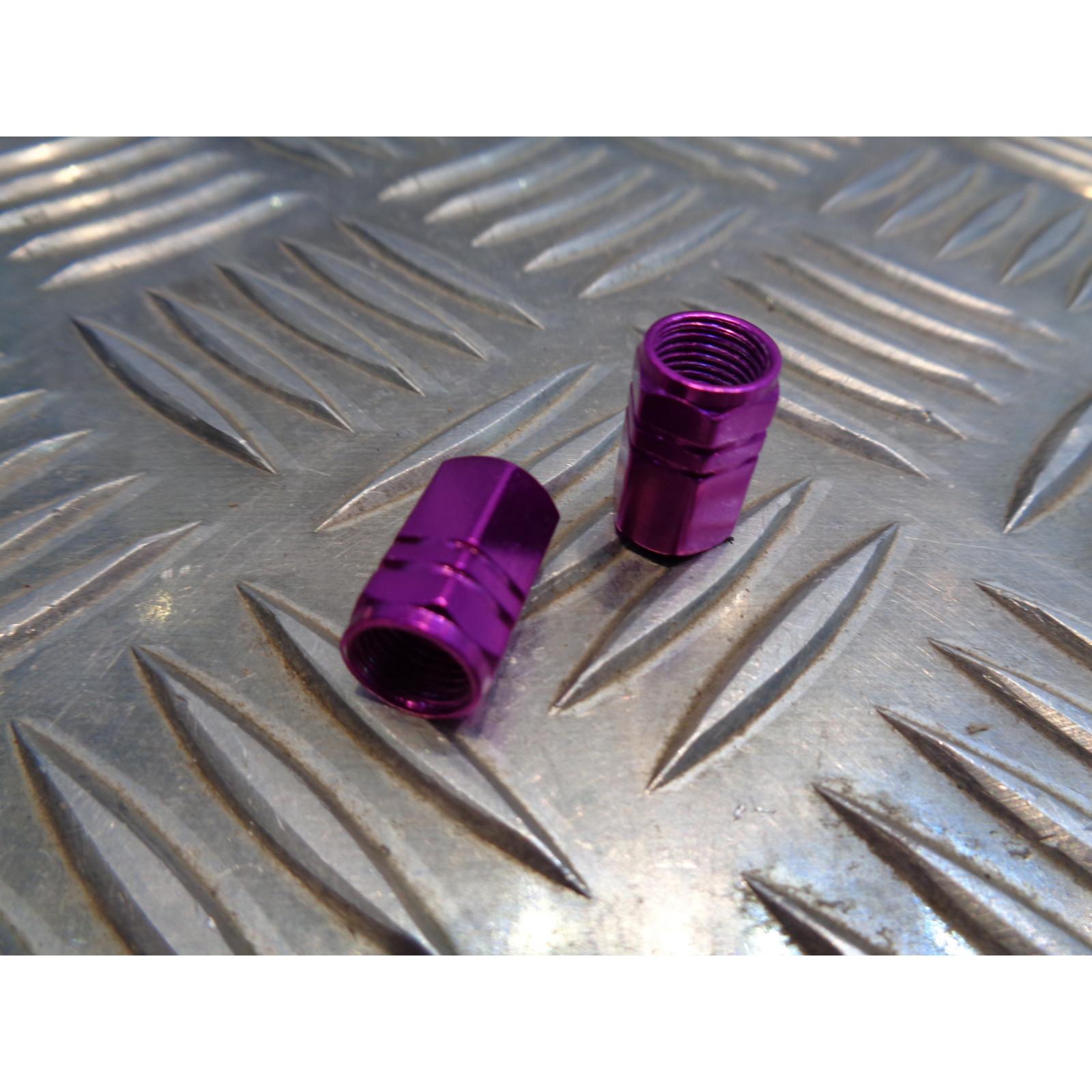jeu de 2 x embout de valve bouchon violet scooter moto quad ...
