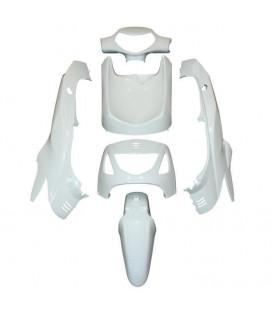 kit carrosserie cache carenage scooter honda 125 sh blanc brillant 6 pieces