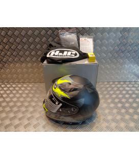 casque integral moto hjc i70 rias homme noir gris jaune taille m 57 - 58 cm