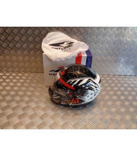 casque integral astone gtk kid predator noir blanc taille s 47 - 48 cm enfant moto scooter quad