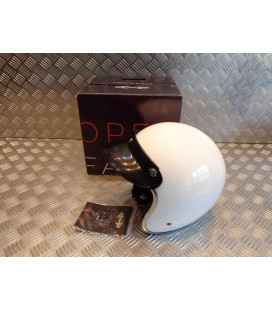 casque jet stormer pearl blanc taille xs 53 - 54 cm moto scooter quad